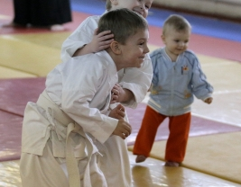 Семинар Айкидо в Новосибирске Корнев В.А. Детская аттестация по Айкидо.