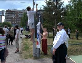 """Показательнвые выступления клуба Айкидо """"Дзикисинка"""" Новосибирск."""